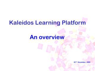 Kaleidos Learning Platform
