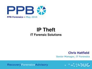 PPB Forensics  –  May 2010