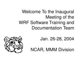 Monday January 26, 2004
