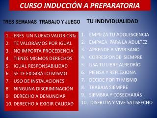 CURSO INDUCCIÓN A PREPARATORIA