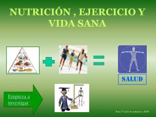NUTRICIÓN , EJERCICIO Y VIDA SANA