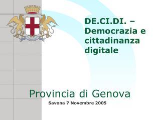 DE.CI.DI. – Democrazia e cittadinanza digitale