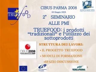 CIBUS PARMA 2008 08 Maggio 2008 2° SEMINARIO  ALLE PMI