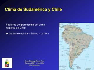 Clima de Sudamérica y Chile