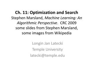 Longin Jan Latecki Temple University latecki@temple