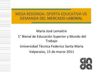 MESA REDONDA: OFERTA EDUCATIVA VS DEMANDA DEL MERCADO LABORAL