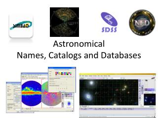 Astronomical  Names, Catalogs and Databases
