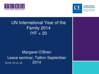 UN International Year of the Family 2014 IYF + 20