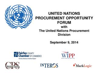 UNITED NATIONS PROCUREMENT OPPORTUNITY FORUM  with  The United Nations Procurement Division