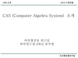 CAS (Computer Algebra System)   소개
