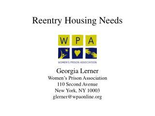 Reentry Housing Needs