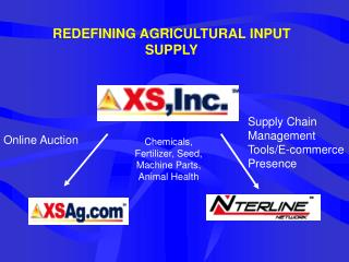 REDEFINING AGRICULTURAL INPUT SUPPLY