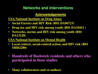 Networks and interventions