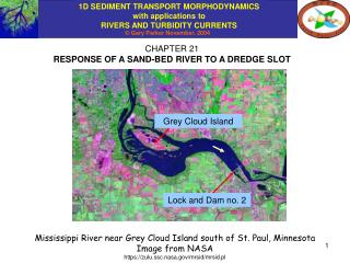 CHAPTER 21 RESPONSE OF A SAND-BED RIVER TO A DREDGE SLOT