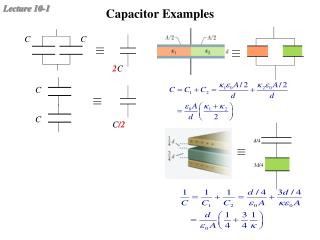 Capacitor Examples