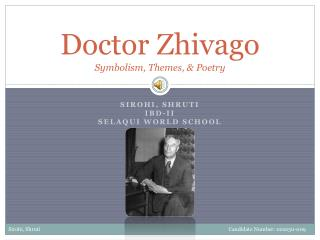 Doctor Zhivago Symbolism, Themes,  Poetry