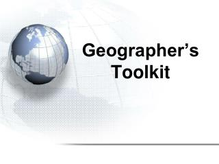 Geographer's Toolkit