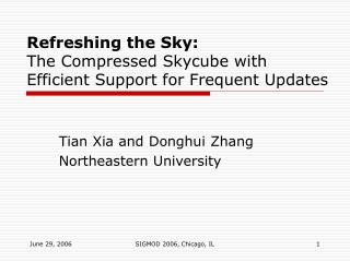Refreshing the Sky: The Compressed Skycube with Efficient Support for Frequent Updates