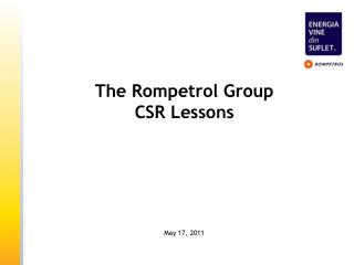 The Rompetrol Group CSR Lessons