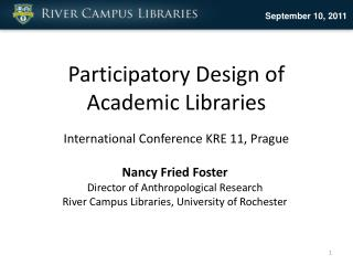 Participatory Design of Academic Libraries International Conference KRE 11, Prague