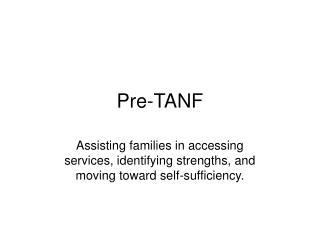 Pre-TANF