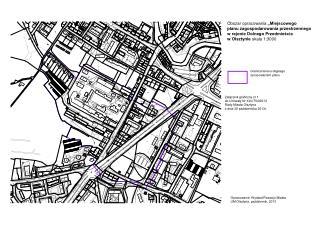 """Obszar opracowania  """"Miejscowego  planu zagospodarowania przestrzennego"""