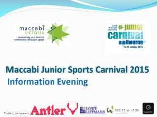 Maccabi Junior Sports Carnival 2015