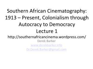 Derek Barker derekbarker Dr.Derek.Barker@gmail