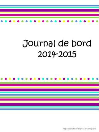 Journal de bord 2014-2015