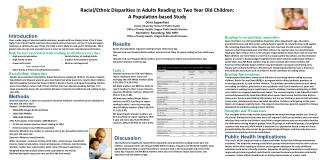 Racial/Ethnic Disparities in Adults Reading to Two Year Old Children:  A Population-based Study