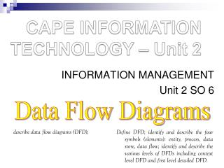 CAPE INFORMATION TECHNOLOGY – Unit 2