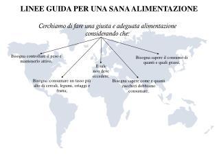 LINEE GUIDA PER UNA SANA ALIMENTAZIONE