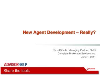 New Agent Development   Really
