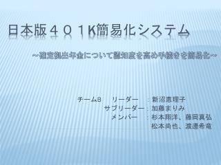日本版401 K 簡易化システム