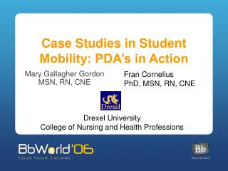 Case Studies in Student Mobility: PDA�s in Action