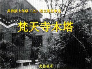 苏教版七年级(上)语文第五单元