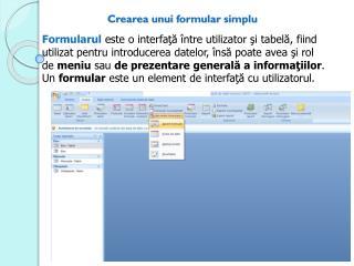 Crearea unui formular simplu