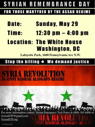 SYRIAN REMEMBRANCE DAY