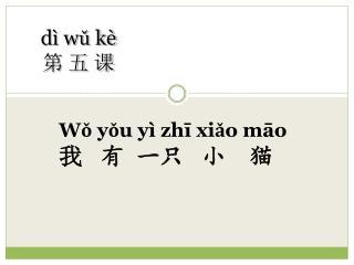 dì wǔ kè  第 五 课