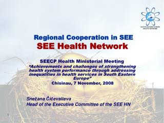SEECP Health Ministerial Meeting