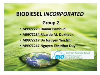 BIODIESEL  INCORPORATED