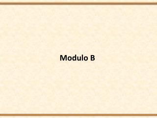 Modulo B