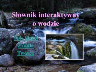 Słownik interaktywny o wodzie
