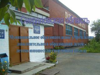 Муниципальное образовательное учреждение дополнительного образования детей -