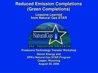 Reduced Emission Completions  (Green Completions)