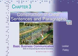 Construction of Clear Sentences and Paragraphs