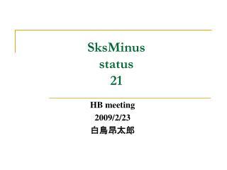 SksMinus status 21