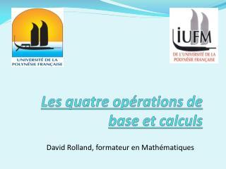 Les quatre opérations de base et calculs