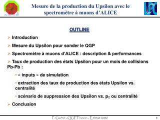 Mesure de la production du Upsilon avec le spectromètre à muons d'ALICE