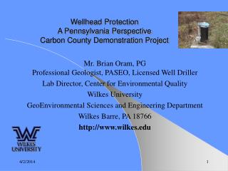 Wellhead Protection A Pennsylvania Perspective Carbon County Demonstration Project